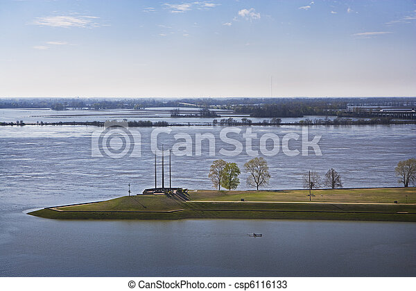 Flooded Mississippi River - csp6116133