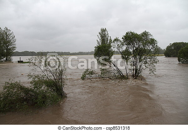 Flooding river - csp8531318
