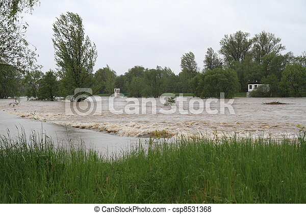 Flooding river - csp8531368