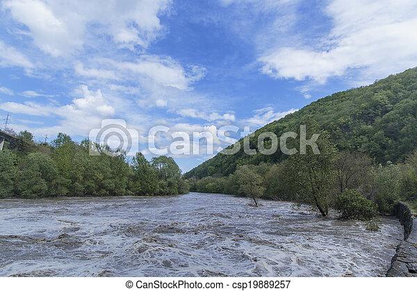 Flooding river - csp19889257