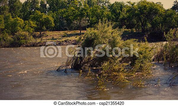 Flooding River - csp21355420