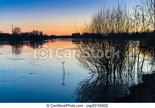 Flooding River - csp23155622