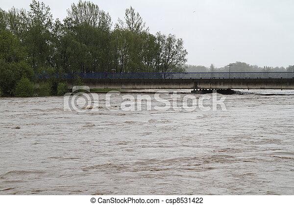 Flooding river - csp8531422