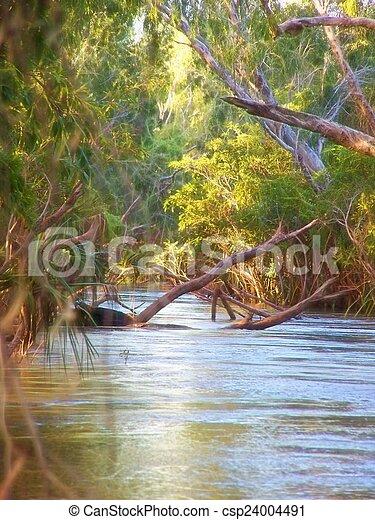 flooding river - csp24004491