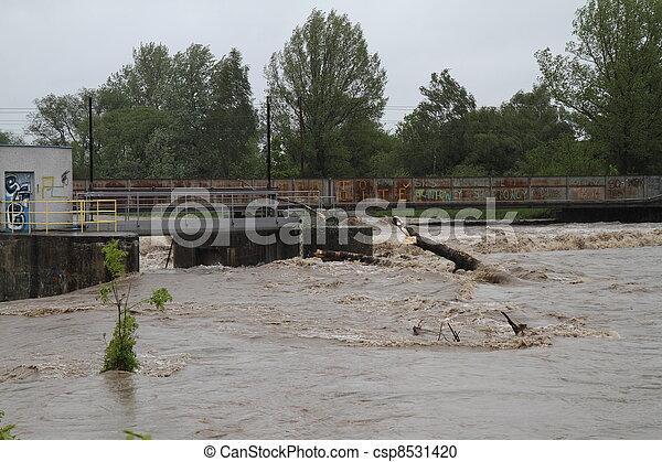 Flooding river - csp8531420