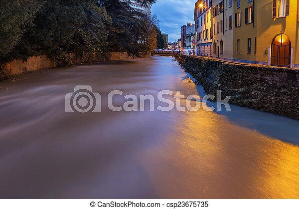 Flooding river - csp23675735