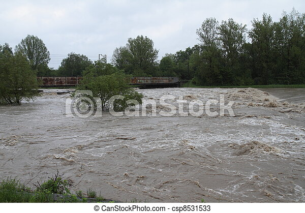 Flooding river - csp8531533