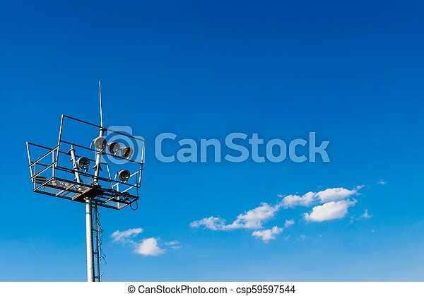 Floodlight on outdoors - csp59597544