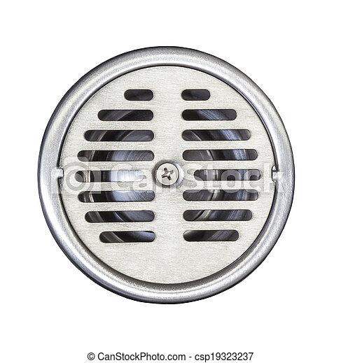 Floor drain on white - csp19323237