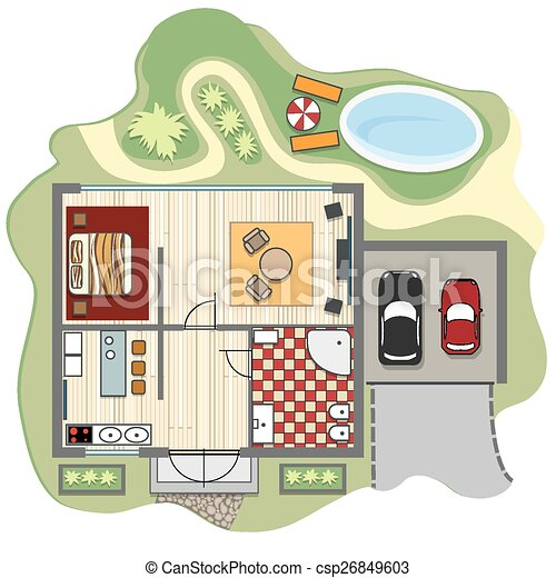 Floor plan of house design construction architecture and