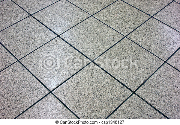 Line Art Floors : Grey marble floor tile angling away suitable as background stock
