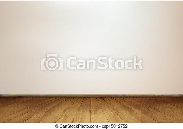 floor., vector., 壁, 木製である - csp15012752