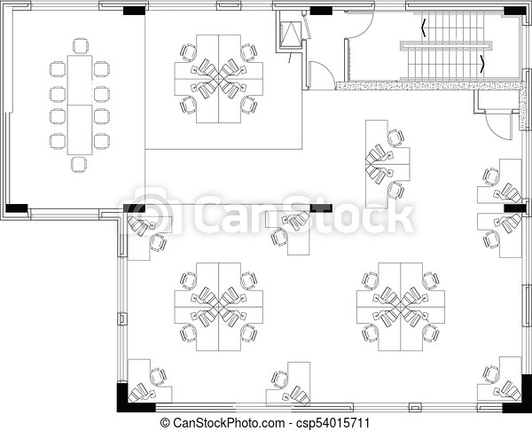 floorplan of a commerical office layout floor space drawings of a