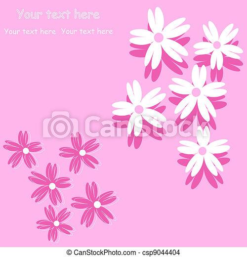 Fondo de flores para proyectos de arte, - csp9044404