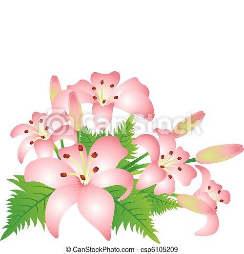 Flor en un fondo blanco - csp6105209