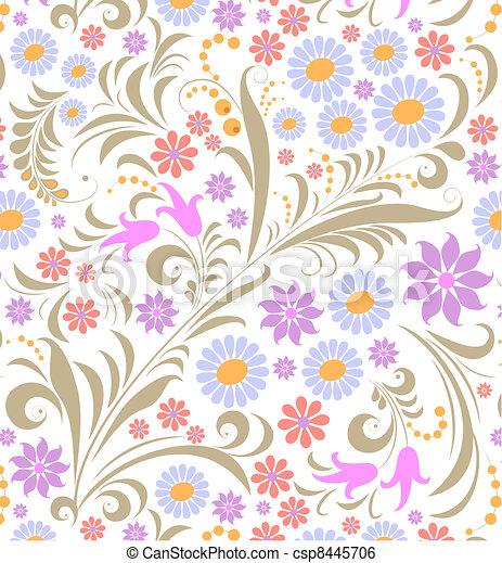 flor branca, coloridos, fundo - csp8445706