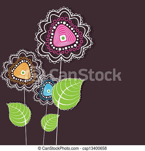 flor, coloridos - csp13400658