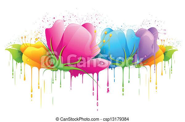 flor, coloridos - csp13179384