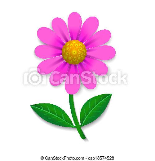 flor cor de rosa isolado vetorial desenho branca elemento
