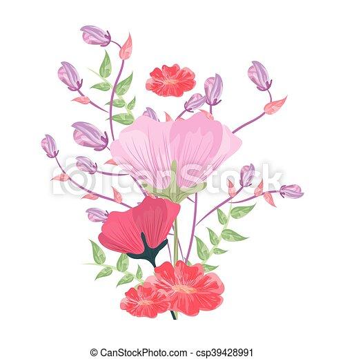 Flor Delicado Icone Apartamento Flor Ilustracao Vetorial