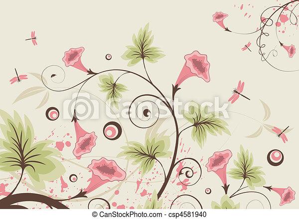 flor, fundo - csp4581940