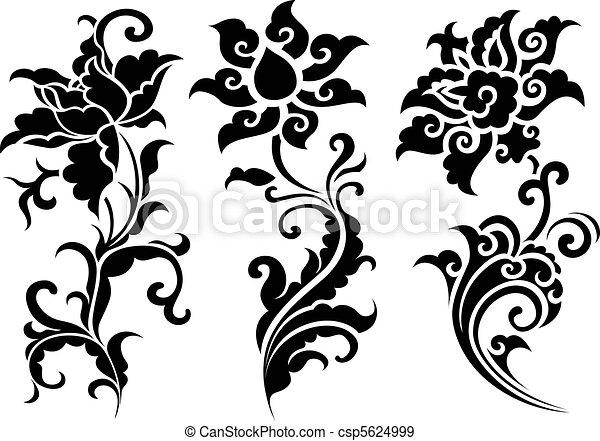 flor, ilustración - csp5624999
