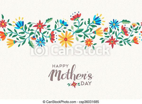 Madres felices día primavera flor de fondo - csp36031685