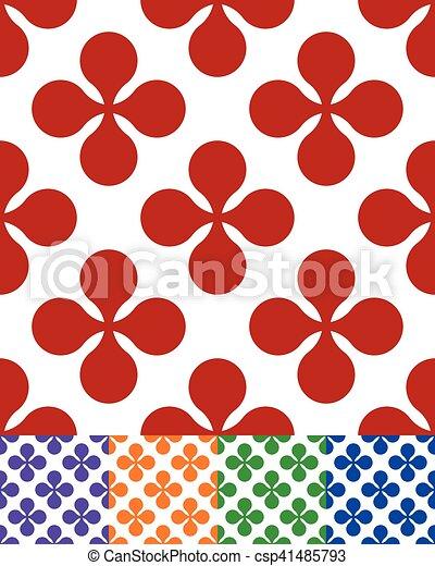 Patrón de colores sin costura con flor como motivo - csp41485793