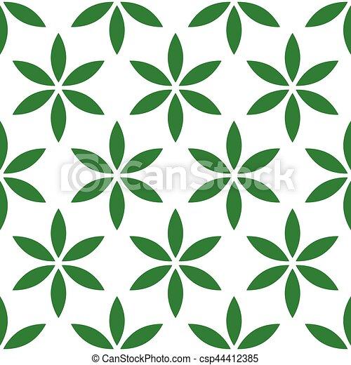 Patrón sin costura con simple floral, motivo floral - csp44412385