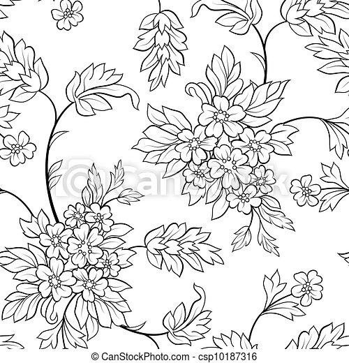 La flor delineada negra sin mancha - csp10187316