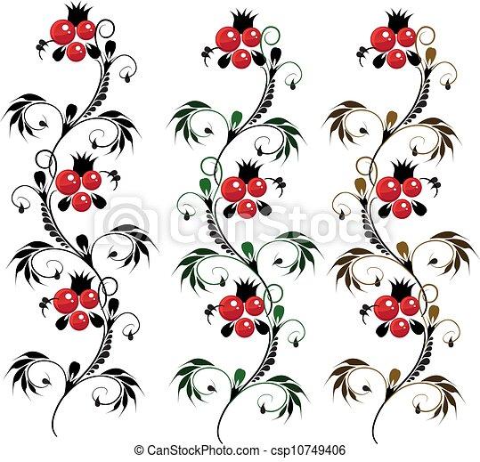 flor ornamento delicado petrikovsky vetorial ornamento