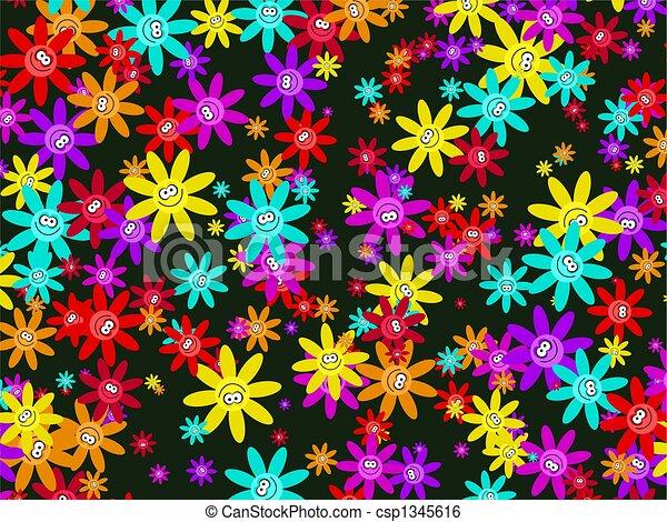 Papel de flores - csp1345616