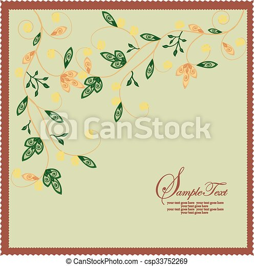 Antecedentes florales - csp33752269