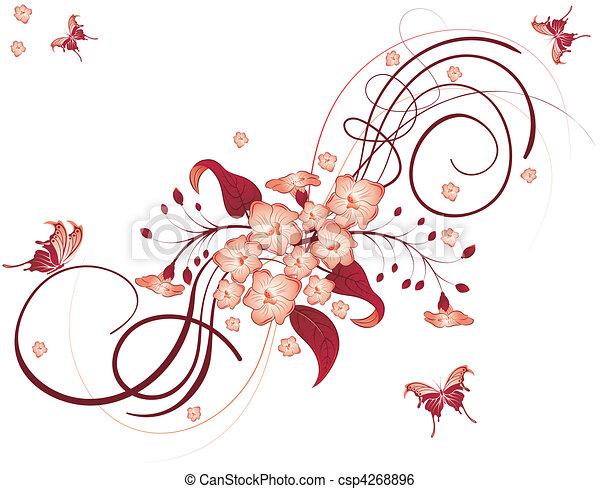 flor, plano de fondo - csp4268896