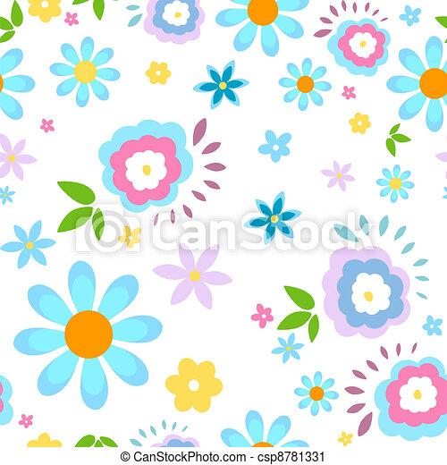 Un fondo de flores - csp8781331