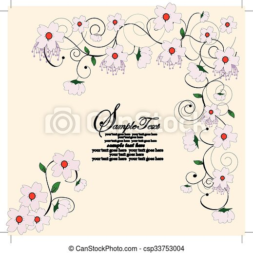 Antecedentes florales - csp33753004
