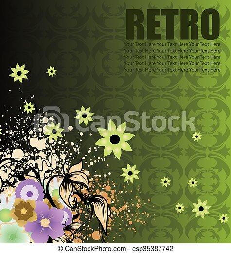 Antecedentes florales - csp35387742