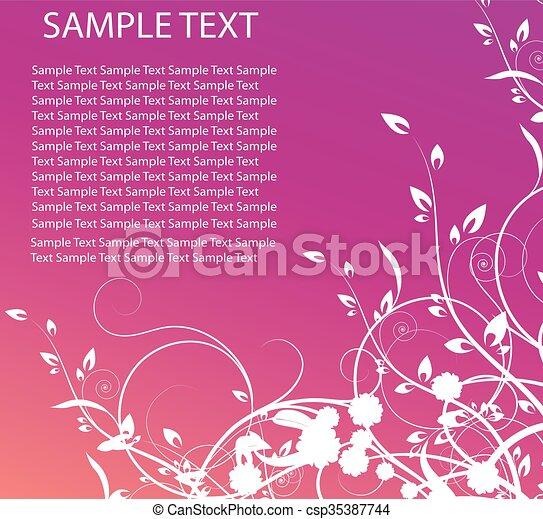 Antecedentes florales - csp35387744