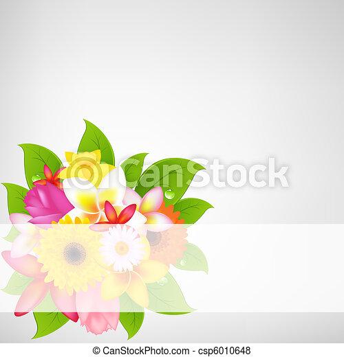 flor, plano de fondo - csp6010648