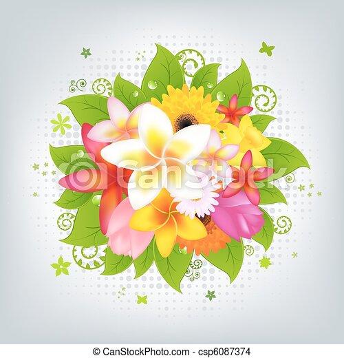 flor, plano de fondo - csp6087374