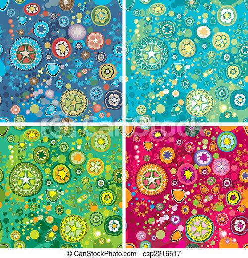Trasfondo de flores espaciales - csp2216517