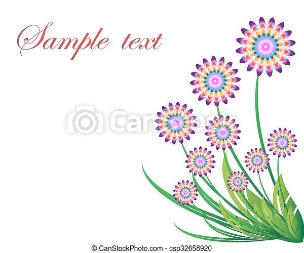 Antecedentes florales - csp32658920