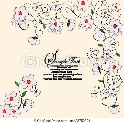 Antecedentes florales - csp33752924