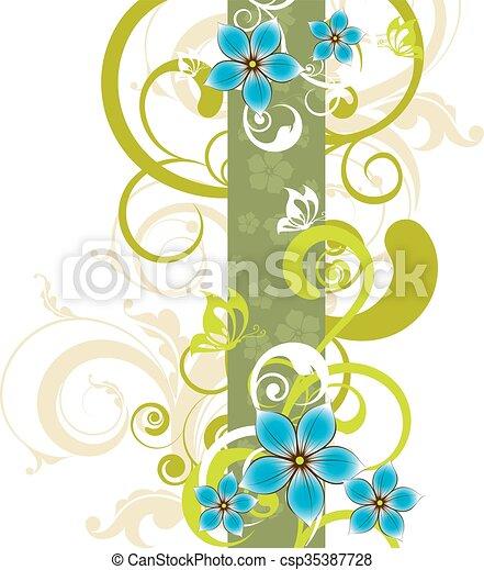 Antecedentes florales - csp35387728