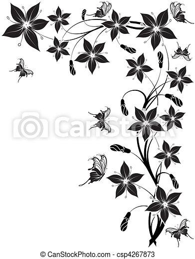 flor, plano de fondo - csp4267873