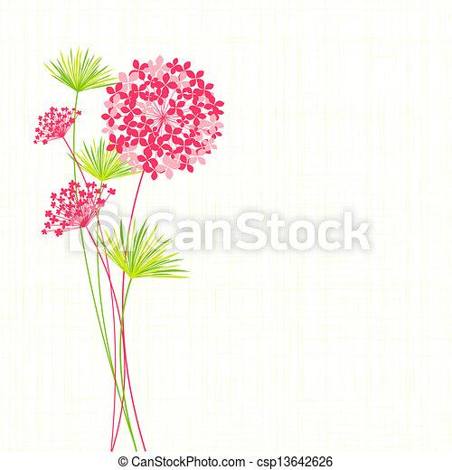 Fondo de flores primavera - csp13642626