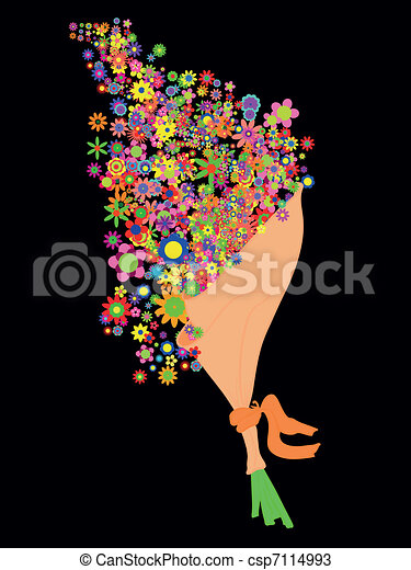 Un montón de flores - csp7114993