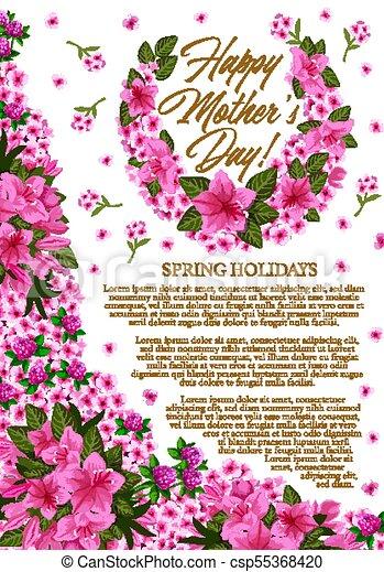 Flor Rosa Primavera Saludo Madre Bandera Día Adornado Flor