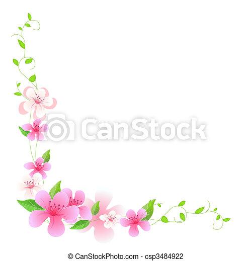 Flor rosada y viñas - csp3484922
