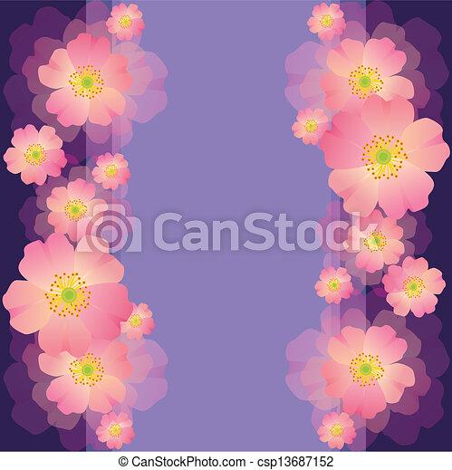 Saludos o tarjeta de invitación con flores para la boda, cumpleaños, aniversario - csp13687152